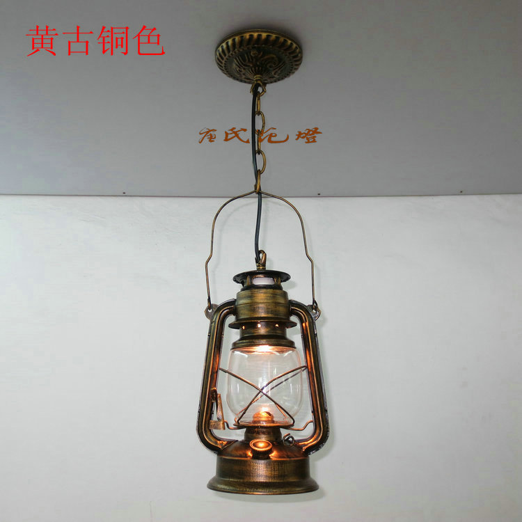 The PENDANT of restoring ancient ways chandelier European single head lantern chandeliers lamps Retro nostalgia light bar GY316 vintage ceramic aluminum screw caps single seat head chandelier chandelier designer can be installed lantern shade accessories