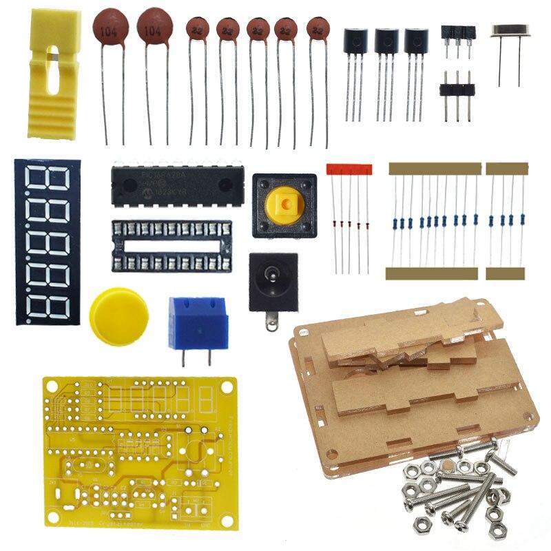 Chegada nova diy kits 1hz-50mhz oscilador de cristal tester contador de freqüência medidor caso melhor preço durável diy led kit
