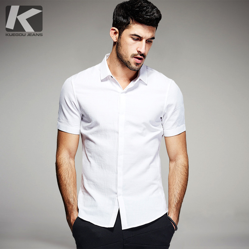 Free shipping men's short sleeve fashion color block stitch peaked collar shirts 1372