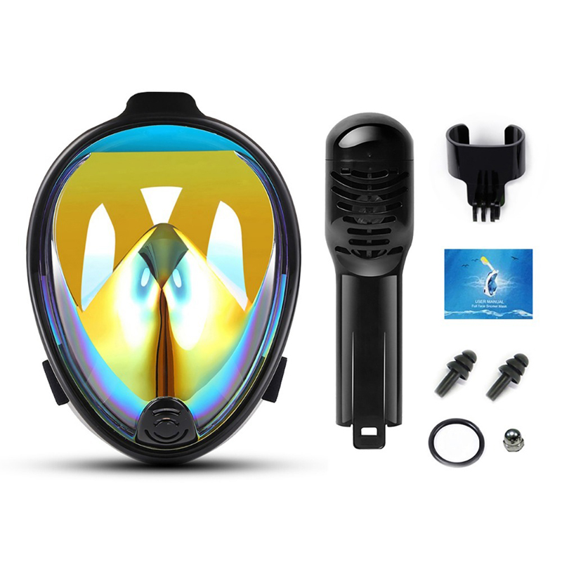 YaHey Diving Masks Full Face Snorkeling Mask Anti fog Snorkel Set 2018 Swimming Buoy Scuba Dive Underwater Equipment For GoPro