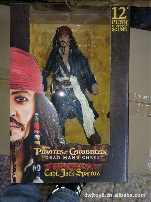 High Quality!!! Pirates of the Caribbean Captain Jack Sparrow 12inch PVC Action Figure Toys Models Gifts Collection футболка print bar captain jack sparrow