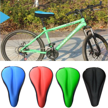 цена на High Quality Bicycle Saddle 3D Soft Bike Seat Cover Comfortable Foam Seat Cushion Cycling Saddle for Bicycle Bike Accessories