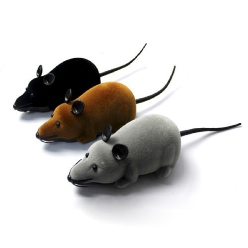 Haustierbedarf Wireless Remote Control RC Electronic Rat Mouse Mice Toy For Cat Puppy Gift
