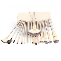 Top Popular Women 18pcs Makeup Brushes Set Fondation Eyeshadow Cosmetic Tool With Leather Beauty Brushes Professional