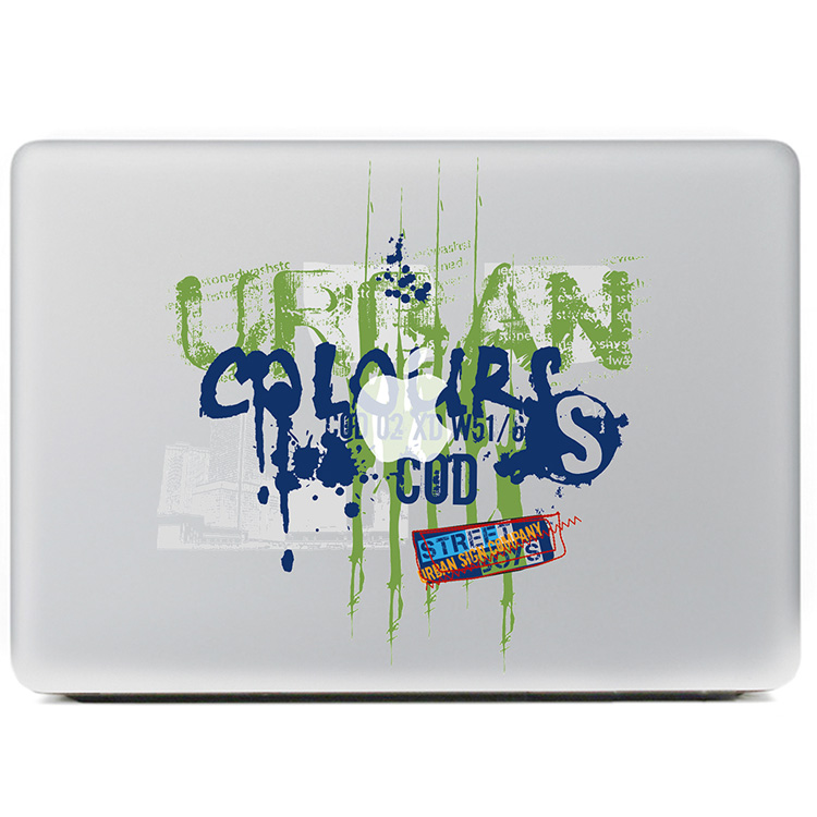 Color personalized letters graffiti Vinyl Decal Sticker for DIY Macbook Pro / Air 11 13 15 Inch Laptop Case Cover Sticker
