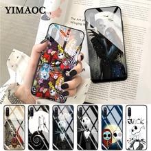 YIMAOC Jack Sally Before Christmas Glass Case for Xiaomi Redmi 4X 6A note 5 6 7 Pro Mi 8 9 Lite A1 A2 F1