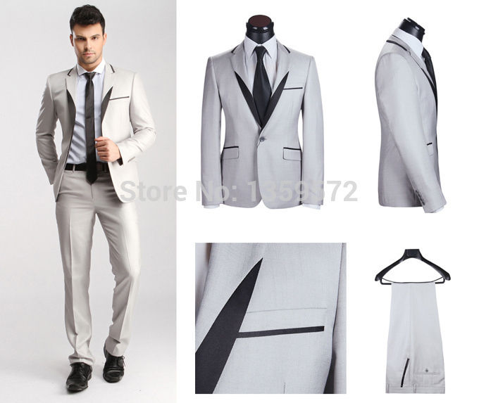 2015 Fashion Stylemens Tuxedo Suits Wedding Groom With Pants Royal Blue For Men Jacket Vest Tie In From Mens Clothing
