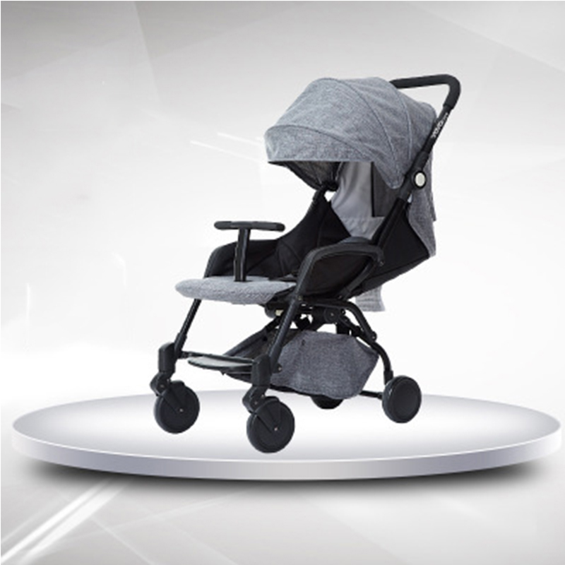 цены на Lightweight baby stroller aluminum alloy can sit can sleep folding baby pram 0-3 year old Russia free shipping