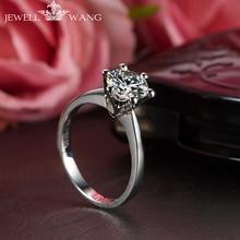 Jewellwang 18k White Gold Six Prong Setting Crown 0.5 Carat