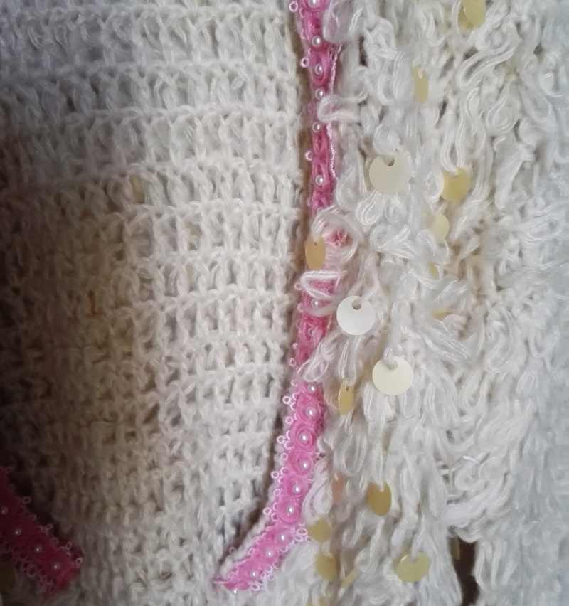 HCHENLI 2017 дамы блестки Бисер мохер кардиган Для женщин трикотаж с короткими кисточками свитер розы контраст Цвет свитера