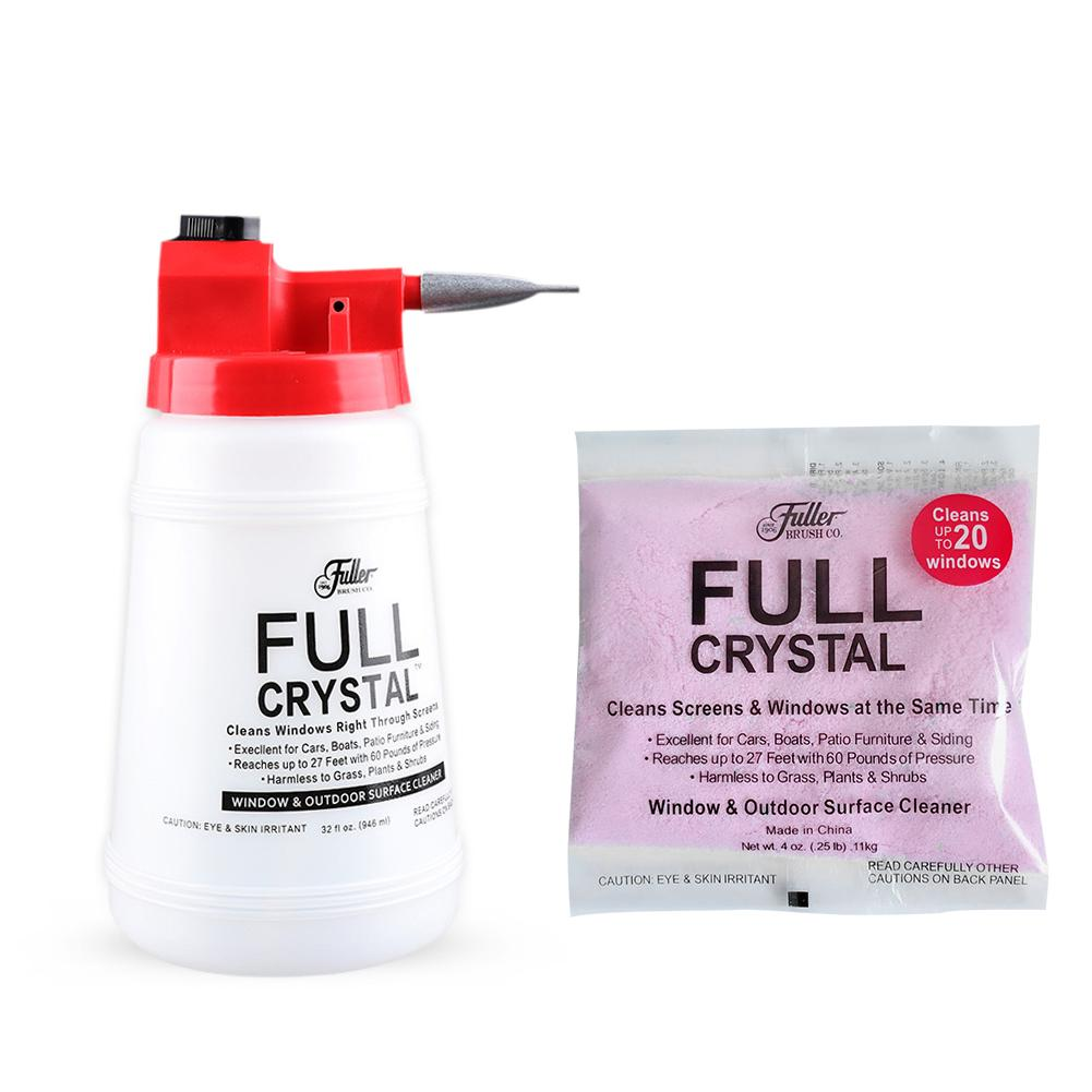 Full Crystal Window Cleaner Car Wash Cleaning Watering Can Glass Cleaning Spray Bottle With Optional Powder Refill