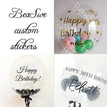 """1 шт., золотой, серебряный, черный, красный, розовый, A-Z, на заказ, наклейка на свадьбу, для маленьких мальчиков, для взрослых, на день рождения, Декор, сделай сам, именной костюм для 18/2"""" воздушных шаров"""