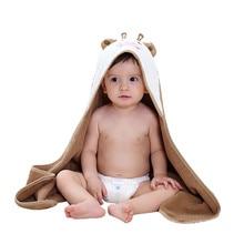 Детское полотенце с капюшоном одеяло милое животное лицо Премиум детское полотенце с капюшоном для мальчика или девочки-корова одеяло