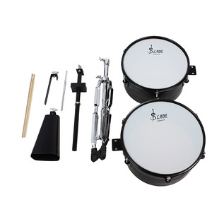 """Image 3 - 13"""" & 14"""" Timbales Drum Set With A Premium Steel Cowbell A pair of Drum Sticks and Cowbell Holder High Quality Training Drum"""