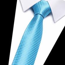 2017 Classic Silk Mens Ties Neck 8cm Brown Yellow blue for Men Formal Wear Business Suit Wedding Party Gravatas