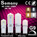 Dimmable G9 LED Bulb 3W 5W 110V 220V Mini Led Lamp 350lm 550lm Spotlight For Crystal Chandelier Replace 50W 100W Halogen Light