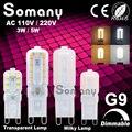 G9 Dimmable Lâmpada LED 3 W 5 W 110 V 220 V Mini Led Lamp 350lm 550lm Spotlight Para Lustre de Cristal Substituir 50 W 100 W Luz de Halogéneo