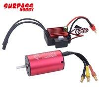 SurpassHobby 2845 3100KV Waterproof Sensorless Brushless Motor with 35A Brushless ESC for 1:12 RC Car