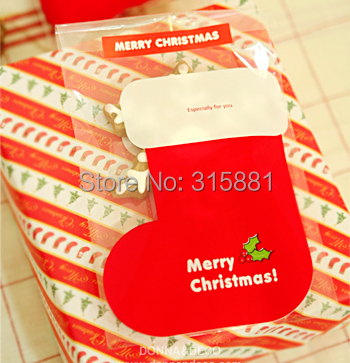 christmas stockings cellophane bags cake cookies wrappers cookies snacks party favor - Where To Buy Christmas Stockings