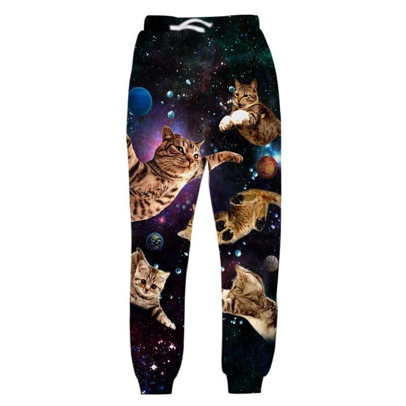 Fashion Joggers 2019 Brand 3D Trousers Pizza Cat Funny Printed Men Women Unisex Casual Sweatpants Trousers Dropship