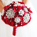 Red, blue, purple, ivory holding flowersbridal bouquet marriagebrooches holding flowers wedding photography props free shipping