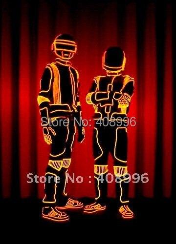 Illuminated costume EL wire robot set for DJ/DS/ luminous costume, EL costumes, EL CLOTHING