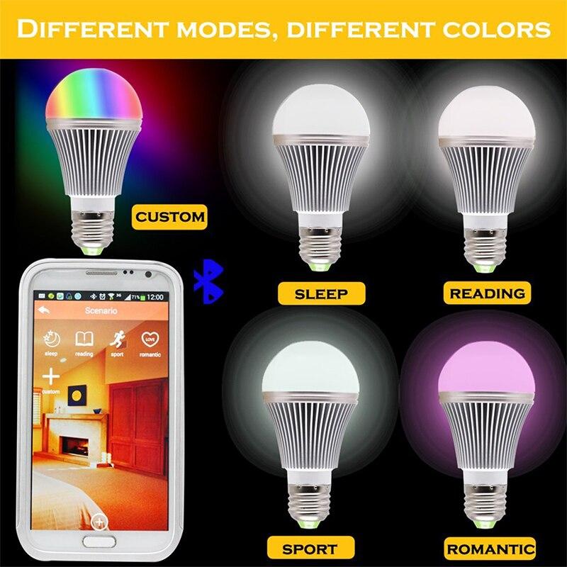 1pcs Free shipping Wireless 12W Power E27 RGB LED  Bluetooth Bulb Light Lamp Music Playing and Lighting Warm White