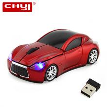 Wireless Optical Mouse sem fio 1600 DPI Infiniti Sports Car Shape Mouse Gamer Cordless Mause Computer Mice For PC Laptop Gaming