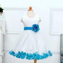 Принцессы роз вокруг цветка колен лепестки розничная партии ребенка платья девушки