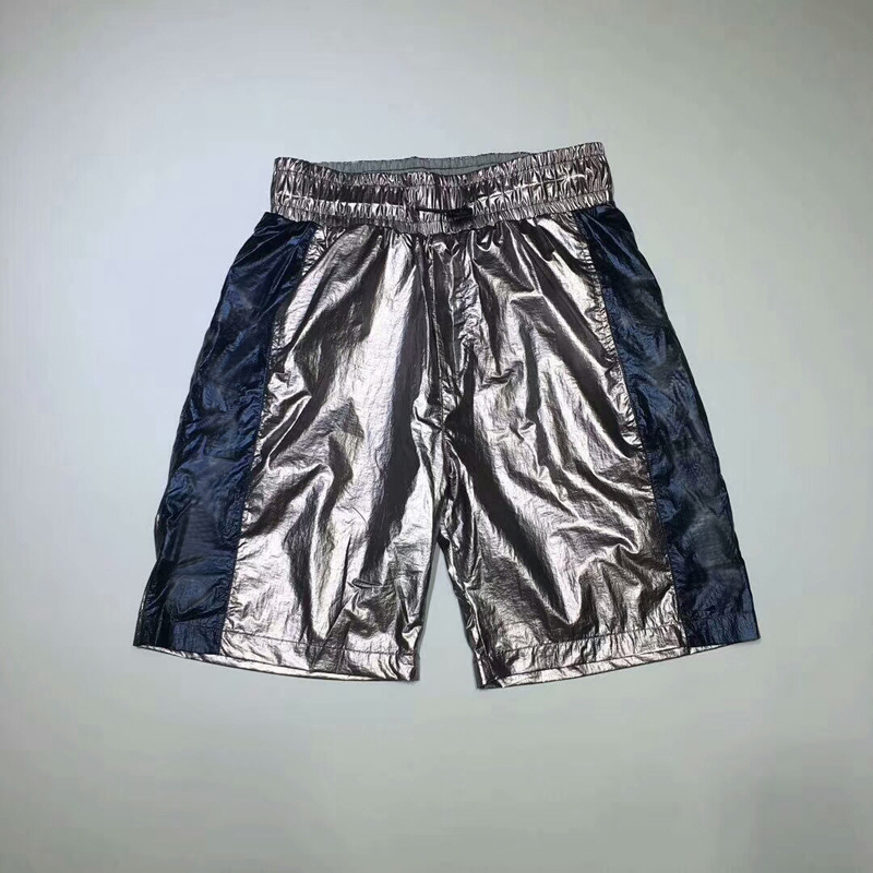 Summer Recreational Sport Men And Women's Quintuple Shorts With Silver Bright Live Outdoor Hip-hop Brand Shorts