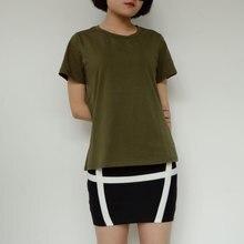Летняя зеленая футболка для девочек простые пикантные топы для девочек