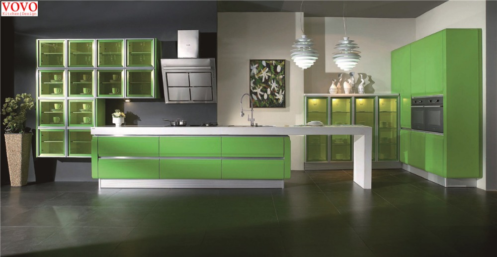 US $2800.0 |Affordable modern high gloss kitchen cabinets-in Kitchen  Cabinets from Home Improvement on AliExpress