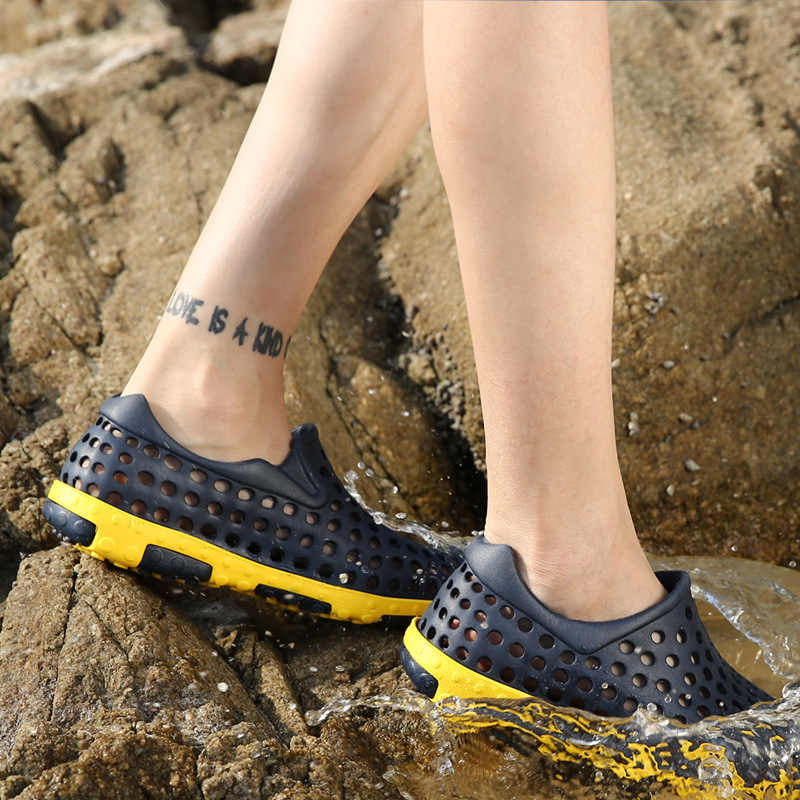 FONIRRA 2019 חדש גברים כפכפים סנדלי אור מזדמן קיץ נעלי גברים EVA Sandalias חוף נעל Sandalen כפכפים גברים כפכפים 587
