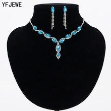 Роскошные комплекты ювелирных изделий yfjewe с австрийскими