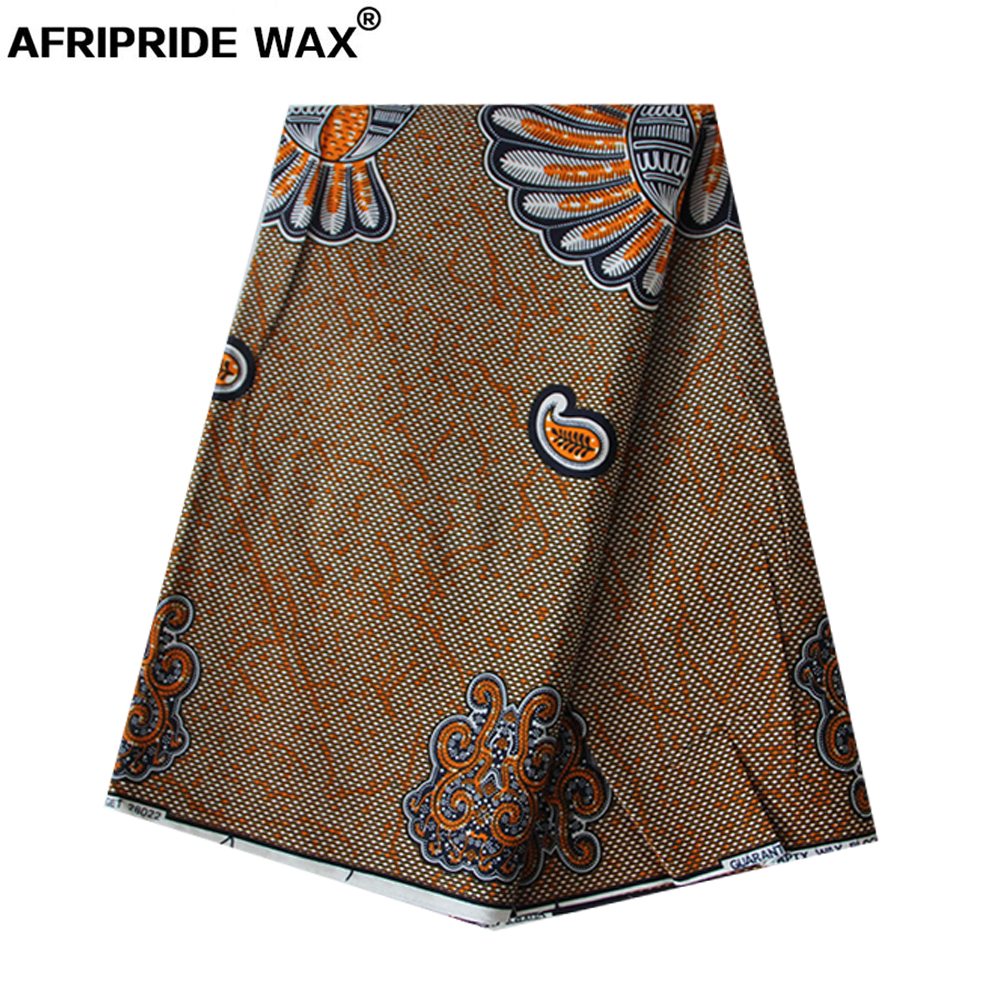 2019 african ankara fabric high quality wholesale african flower 100 cotton real wax brocade fabric for clothing A18F0445 in Fabric from Home Garden