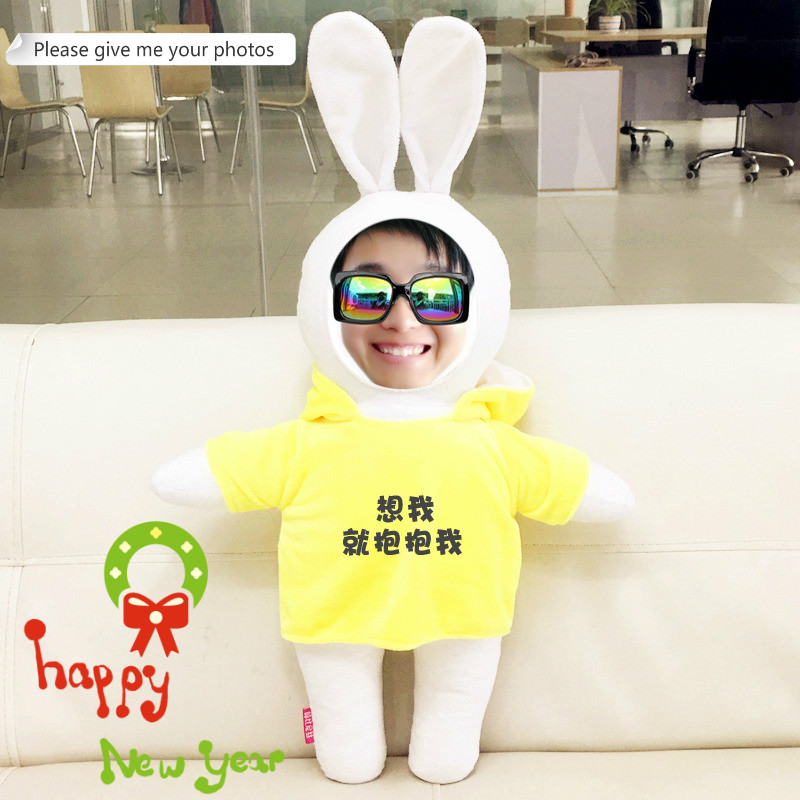 Provide photo custom Factory doll lovely rabbit doll pillows Christmas diy gift Kawaii Stuffed Plush Animals special price 16 colors x vented outdoor playing quad line stunt kite 4 lines beach flying sport kite with 25m line 2pcs handles