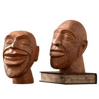 American Nordic home furnishings decorations antique wooden figures head ornaments soft resin craftwork LU714212