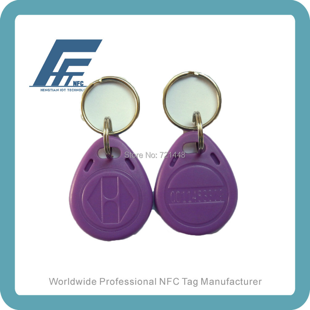 100pcs NFC Keyfobs Purple keychain Available For All NFC Phone Ntag213 Waterproof Factory Price 100pcs nfc keyfobs purple keychain available for all nfc phone ntag213 waterproof factory price