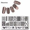 1Pcs Steel Nail Stamping Plates Circle Fingerprint Design Tools Nail Art DIY Accessories Foils Beauty Star Pattern Mezerdoo6