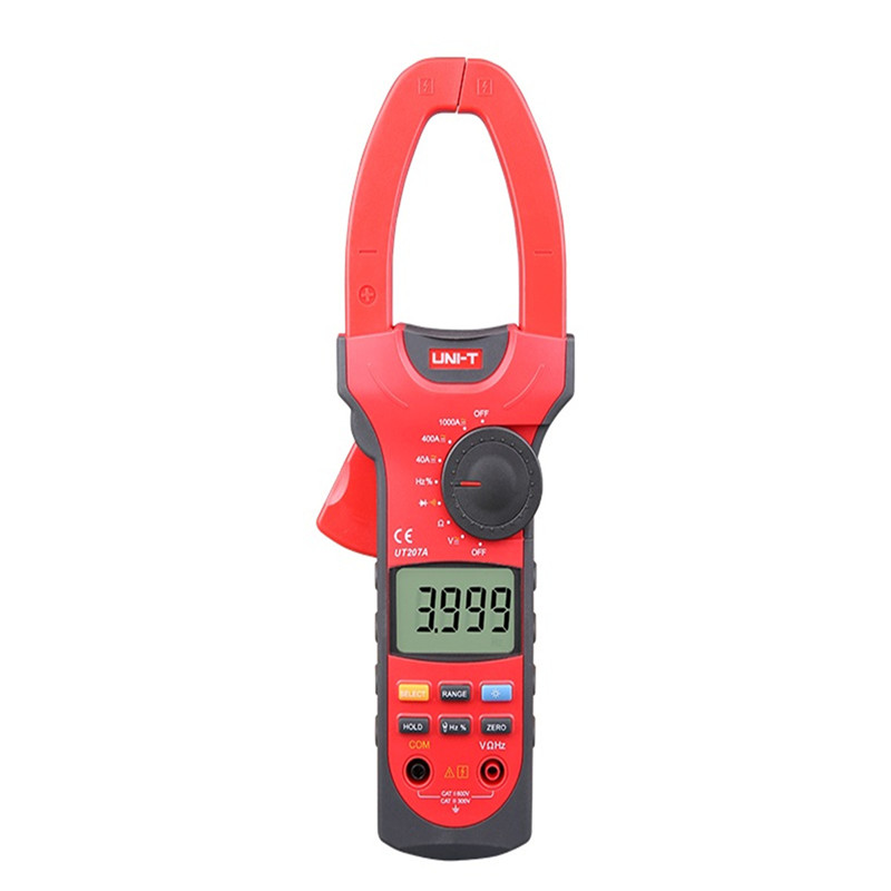 UNI-T UT207A Digital Clamp Meter Multimeter True-RMS Auto Range Clamp Meter 1000A Voltage Current Resistance Frequency my68 handheld auto range digital multimeter dmm w capacitance frequency