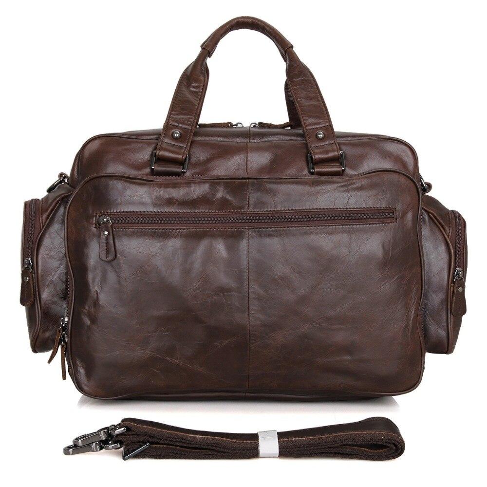 J.M.D Nieuwe collectie Manly Real Leather Trendy Reistassen Handtas - Trolley en reistassen - Foto 2
