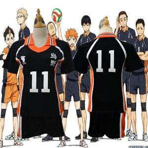 Image 4 - Haikyu!! Haikyuu Cosplay Costume Karasuno Koukou High School Volleyball Club Hinata Shoyo Sportswear Shirt Jerseys