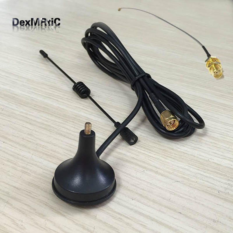 2.4Ghz 3dbi sucker wif antenna with magnetic base extension cable 1.5m SMA male connector + IPX / u.fl To SMA Female Pigtail sale 10cm sma male to sma female rg141 extension cable made with semi rigid cable high quality jackplug wire connector