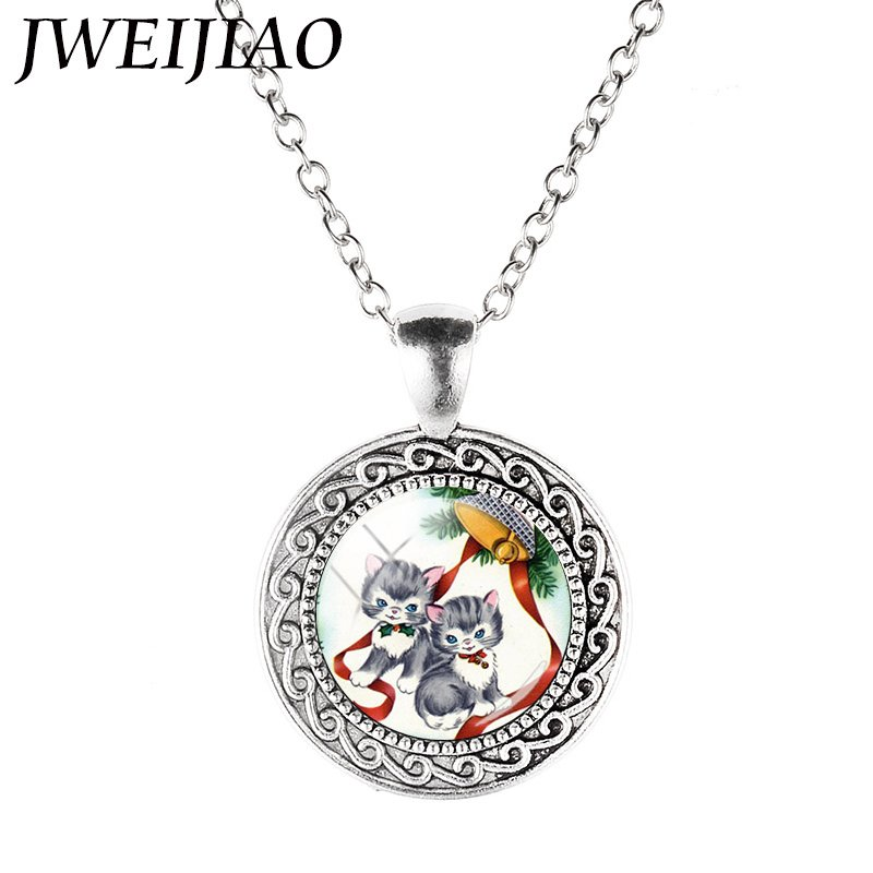 Jweijiao cute gray little cat jingling bell necklace pendants jweijiao cute gray little cat jingling bell necklace pendants glass dome vintage animal neck chains kids xmas gift cm291 in pendant necklaces from jewelry mozeypictures Gallery