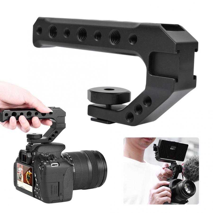 Ulanzi UURIG R005 Universal Hand Grip Camera Handle With Cold Shoe Mount 1/4''&3/8'' Holes Hand Grip Camera Handle