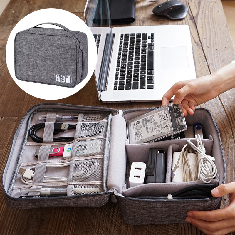Home Office USB Data line Storage Charger Organizer Portable Mobile PC Bag Car Business Travel Gear Waterproof Digital Products image