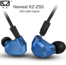 Cheap price NEWEST 2017 KZ ZS5 Quad Driver High Fidelity Extra Bass In-Ear Earphones with Microphone KZ Monitor Earphones Earplug Headset