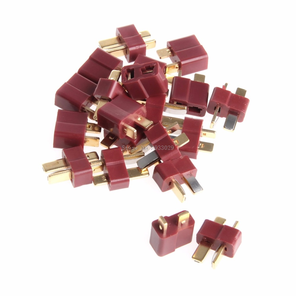 10 Pairs T Plug Male & Female Deans Connectors Style For RC LiPo Battery New -B116 20pcs t plug male