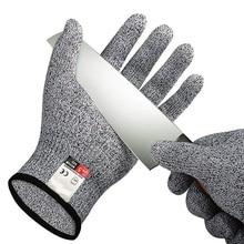 Устойчивая к порезам проволочная металлическая перчатка кухонные садовые мясники устойчивые к порезам безопасные садовые перчатки