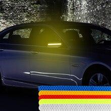 LEEPEE Автомобильная Светоотражающая полоса Автомобильная наклейка Универсальный Предупреждение зеркало заднего вида флуоресцентные светоотражающие наклейки s 2 шт автостайлинг